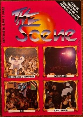 The Scene- Issue 2-september 1994- Rave Magazine-not Rave Flyer-devious D/gachet • 9.99£