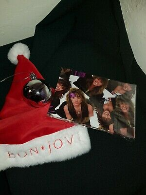 Bon Jovi Christmas Items - Tree Bauble, Christmas Hat And Wrapping Paper • 15£