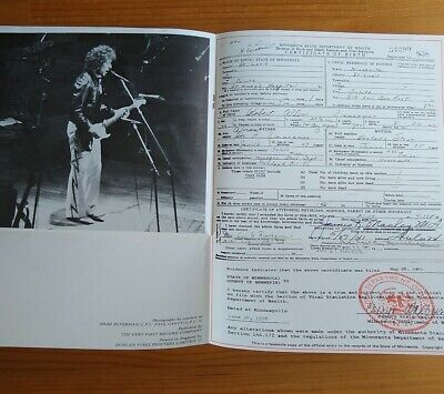 Bob Dylan - Legend Of Our Time - Fan Club Release - Birth Certificate Limited Ed • 10£