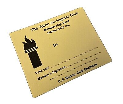 Northern Soul Golden Torch Membership The Torch All Nighter Club Tunstall S-o-t • 3.33£