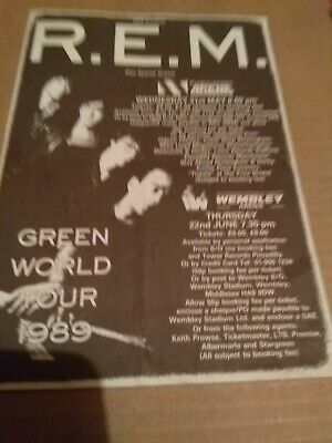 R.E.M Green Tour 1989  Flyer • 3.50£