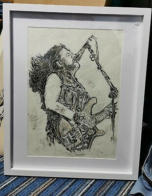 Original Lemmy, Motorhead Charcoal Picture In A 16x20 Frame Withe Mount Size... • 18£