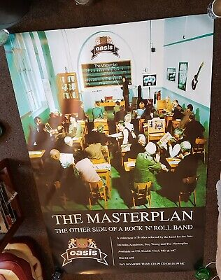 Oasis-the Masterplan-1997  Rare Original Promo Poster 5ft By 3.4ft Uk Post Only • 35£