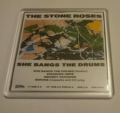 STONE ROSES COASTER SHE BANGS THE DRUMS  Cd Vinyl Rare Ticket Poster T Shirt • 2.49£