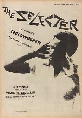 The Selecter - Vintage Press Poster Advert - The Whisper - 1980 • 8.99£