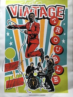 Vintage Trouble Signed Poster  • 15£