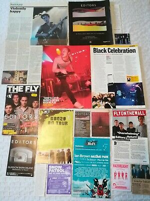 Editors UK Press Cuttings Clippings 2000s-2010s PACKAGE 1 (of 3) • 2.99£