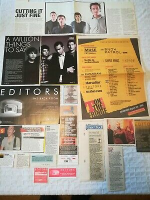 Editors UK Press Cuttings Clippings 2000s-2010s PACKAGE 2 (of 3) • 2.99£
