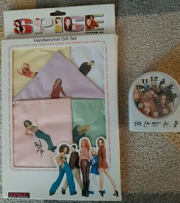 Spice Girls Official Merchandise - Handkerchief Set New & Sealed & Alarm Clock  • 25£