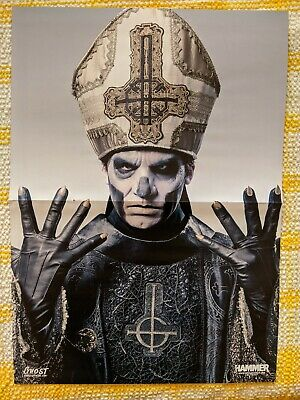 GHOST NEW YEARS DAY Double Sided Poster A3 Size Metal Hammer • 3.50£