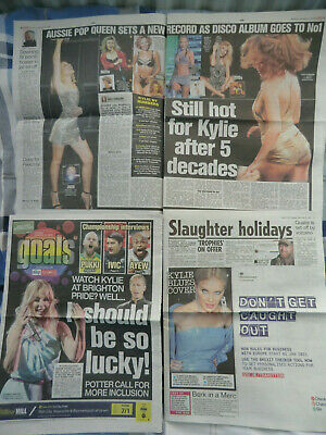 Kylie Minogue Cuttings/clippings Uk Newspapers 2020/2021 • 5.99£