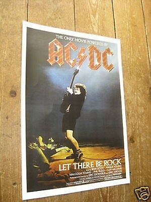 ACDC Let There Be Rock Repro Tour POSTER • 5.99£