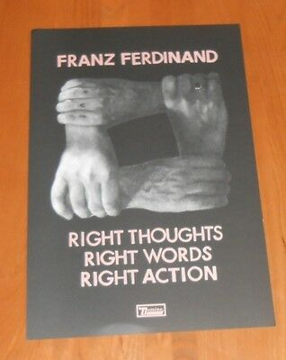 Franz Ferdinand Right Thoughts Words Action 2013 Promo Original Poster 12x18 • 13.86£