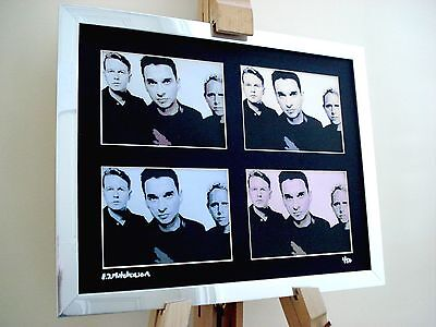 Depeche Mode Ltd Edition Signed Pop Art Canvas • 26.99£