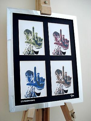 Ian Brown Stone Roses Ltd Edition Signed Pop Art Canvas • 14.99£