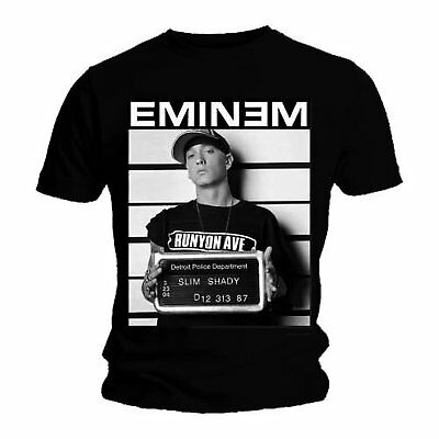 Official T Shirt Eminem Black Arrest Photo Marshall Mathers Mens XL NEW • 14.95£