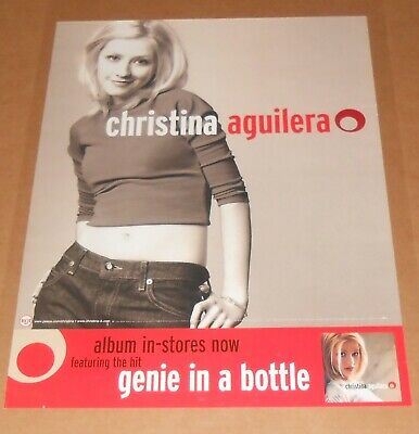 Christina Aguilera Genie In A Bottle Poster 1999 Original Promo 24x18 • 19.81£