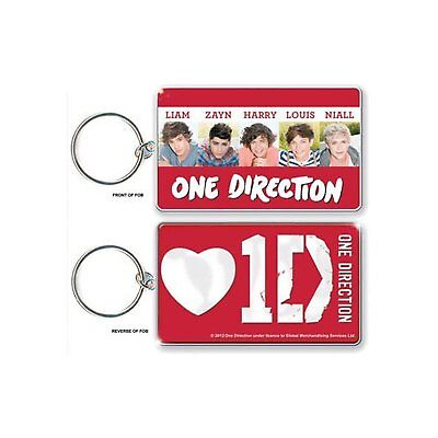 1D One Direction Early Days Red White Keyring Keychain Retro Official Fan Gift • 2.49£