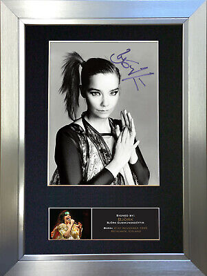 BJORK Signed Autograph Mounted Photo Reproduction A4 Print 528 • 5.99£
