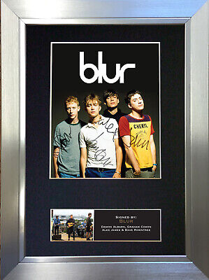 BLUR Signed Autograph Mounted Photo Reproduction A4 Print 352 • 5.99£