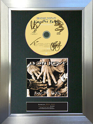 BON JOVI Signed Autograph CD & Cover Mounted Print A4 43 • 7.99£