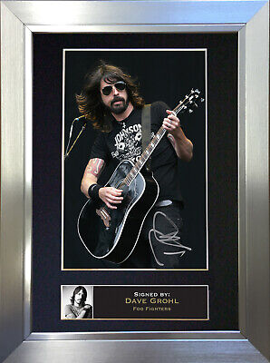 DAVE GROHL Foo Fighters Signed Autograph Mounted Photo Repro A4 Print 77 • 6.99£