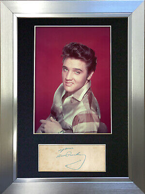 ELVIS PRESLEY Signed Autograph Mounted Photo Repro A4 Print 70 • 6.99£