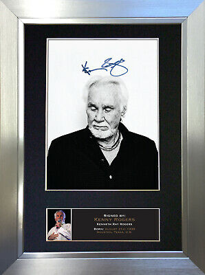 KENNY ROGERS Signed Autograph Mounted Photo Repro A4 Print 361 • 17.99£