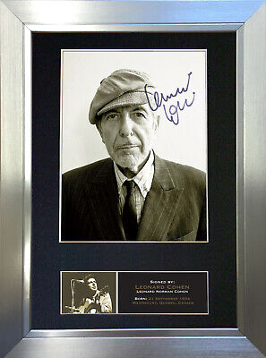 LEONARD COHEN Signed Autograph Mounted Photo Reproduction A4 Print 547 • 18.99£