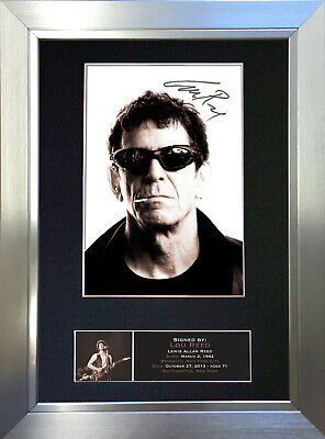 LOU REED Signed Autograph Mounted Photo Reproduction A4 Print 396 • 18.99£
