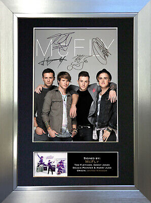 MCFLY Signed Autograph Mounted Photo Reproduction A4 Print 303 • 18.99£