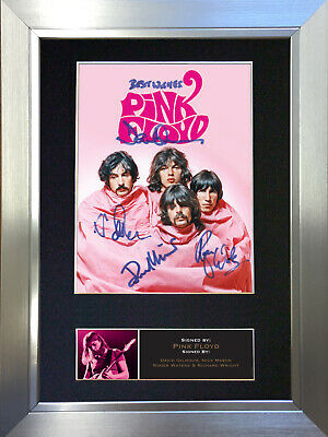 PINK FLOYD No2 Signed Autograph Mounted Photo Reproduction A4 Print 555 • 18.99£