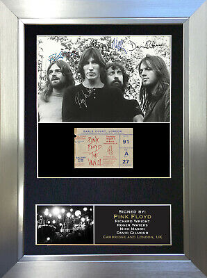 PINK FLOYD No1 Signed Autograph Mounted Photo Reproduction A4 Print 193 • 18.99£