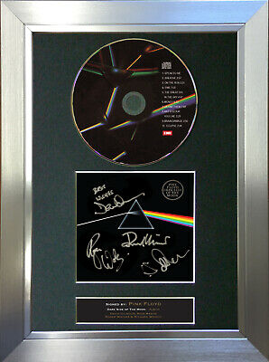 PINK FLOYD Dark Side Of The Moon Signed Autograph CD & Cover Mounted Print A4 60 • 20.99£