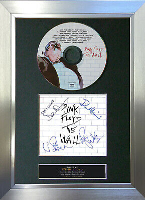 PINK FLOYD The Wall Signed Autograph CD & Cover Mounted Print A4 13 • 20.99£