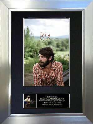 RAY LAMONTAGE Signed Autograph Mounted Photo Reproduction A4 Print 154 • 18.99£