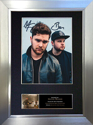 ROYAL BLOOD Signed Autograph Mounted Photo Reproduction A4 Print 523 • 18.99£
