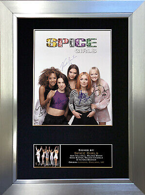 SPICE GIRLS Signed Autograph Mounted Photo Reproduction A4 Print 301 • 6.99£