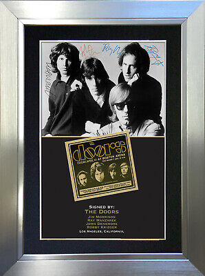 THE DOORS Signed Autograph Mounted Photo Reproduction A4 Print 204 • 18.99£