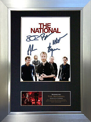 THE NATIONAL Signed Autograph Mounted Photo Reproduction A4 Print 519 • 18.99£