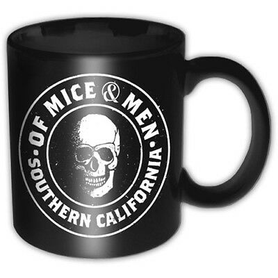 Of Mice And Men Black White Skull Southern Cali Boxed Coffee Gift Mug Official • 9.95£