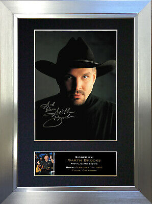 GARTH BROOKS Signed Autograph Mounted Photo Repro A4 Print 332 • 18.99£