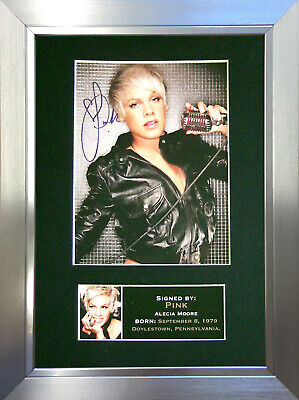 PINK Signed Autograph Mounted Photo Reproduction A4 Print 230 • 5.99£