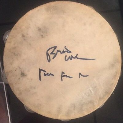 Beach Boys Signed Tambourine Brian Wilson Autographed Instrument (Mike Love) • 489.42£