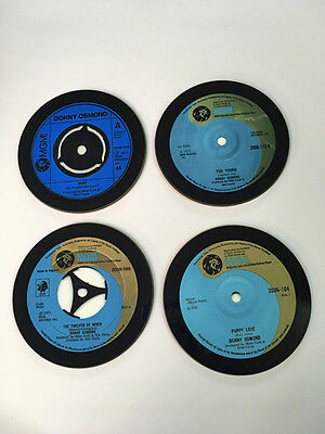 Donny Osmond Singles Collection 45 Great New Drinks COASTER Set • 8.99£