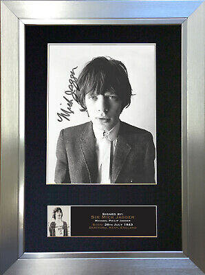 MICK JAGGER Mounted Signed Photo Reproduction Autograph Print A4 644 • 18.99£
