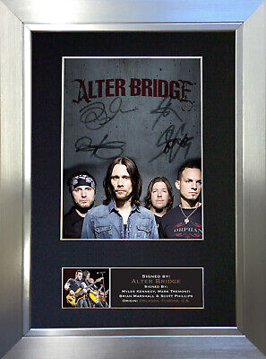 ALTER BRIDGE Mounted Signed Photo Reproduction Autograph Print A4 645 • 18.99£