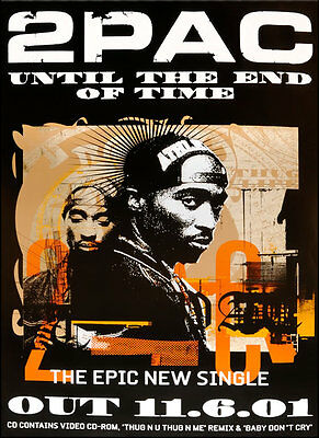Original 2Pac Poster - Until The End Of Time • 19.99£