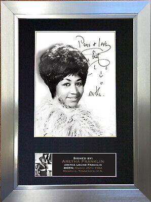 ARETHA FRANKLIN Signed Autograph Mounted Photo Repro A4 Print 661 • 18.99£