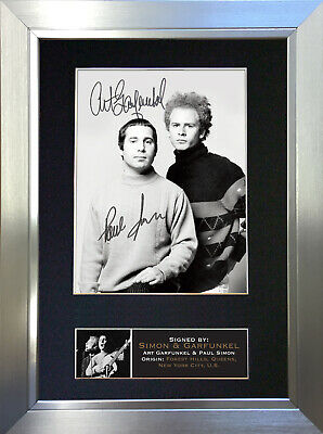 SIMON AND GARFUNKEL  Signed Autograph Mounted Photo Repro A4 Print 663 • 5.99£